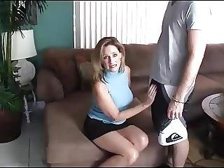 Milf Gives Handjob To A Young Boy While Husband Watches