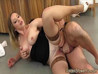 Piss Showered Slut Jizzed
