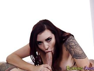 Tattooed Emo Babe Jizzed