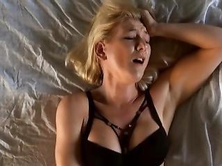 Piękność, Blondynka, Masturbacja, Solo, Kobiecy Wytrysk