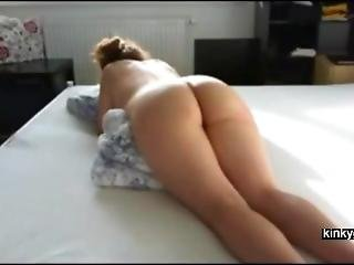 Nasty Punishment With The Cane For German Slut