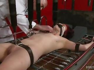 Girl Screams As She Is Tortured On Bed With Electric Violet Wands