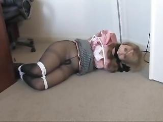 Blonde Girl Cleave Gagged