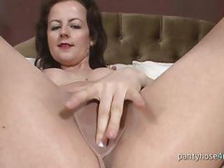 Sexy Housewife Masturbates In A Bedroom