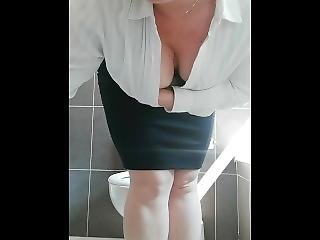 Horny Busty Hairy Secretary Masturbate Ass Nd Pussy Pee During A Meeting