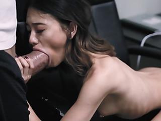 asiatisk, babe, blowjob, gæærn, søt, deepthroat, knulling, liten, piercet, Tenåring