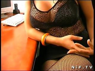 Amateur, Brunette, Desk, French, Fucking, Hardcore