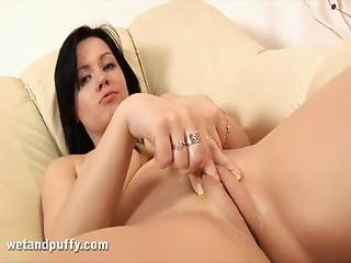 Big Boobed Ellen Gets Off With Fingers And Toys