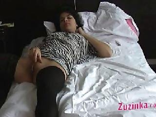 Czech Student Gets Horny