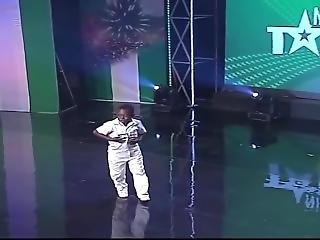Petite Ebony Teen Girl Dancing