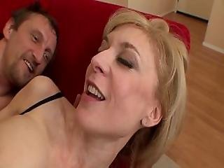 Old Milf Is Fucking A Young Steward
