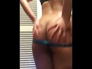 Asian Cum Slut Showing Her Big Ass To Big Daddy