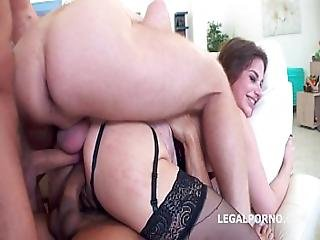 Ninfo Animal With Touchdown. Kathy Heven And Ornella Morgan. Atm Spitting Cum Swallow Dap Dp Anal Fi
