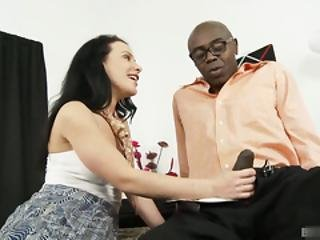 Katie St. Ives Lets Her Black Lover Put A Double Windsor Around Her