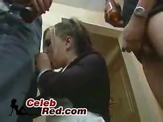 Russian Schoolgirl Gets Fucked By Two Drunks  Russian