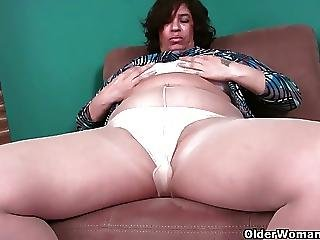 51 Year Old Granny With Leaking Nipples And Dripping Pussy
