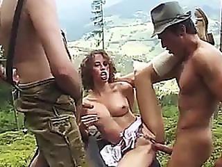 Crazy Mountain Dp With German Teen