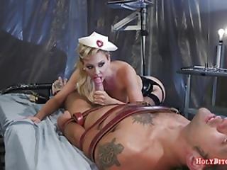 Latex Nurse Cherie Deville Punishes Guy