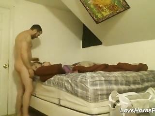 Amateur Couple Fucking In Their New Home Video