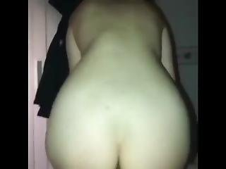 Asian Teen Bounces Her Big Round Ass On My Dick
