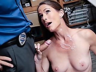 blowjob, brunette, cowgirl, krem, creampie, doggystyle, kneppe, slik, matur, kontor, straffe, fisse