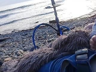 Girl Sucked Right On The Beach Near The Sea