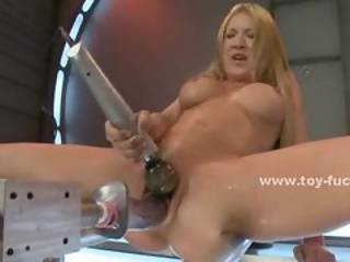 Sexy Blonde With Gorgeous Ass And Nice Tits Puts Her Pussy And As