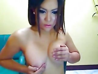 Playful Shemale Wanks And Sucks Own Cock