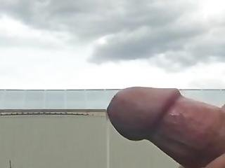 Car Flashing And Huge Cumshot
