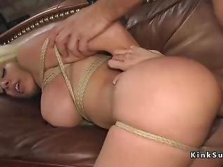 Busty Slave Gets All Holes Pounded