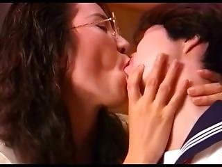 10 Very Sexy & Super Cute Japanese Lesbian Kissing Clips - Part 2