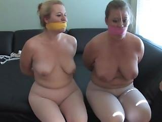 Disobedient Students Bound, Gagged And Vibed In Their Leotard And Tights