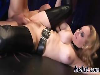 Seductive Blonde Rides On A Big Cock