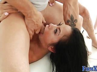 Asian Hottie Gets Bukkake