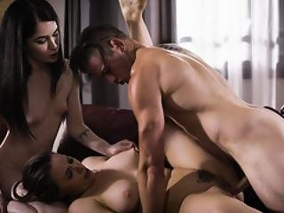 Chanel Prestons Milf Pussy Shared In A Family 3some