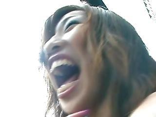 Beginner Oriental Girlfriend Gets Naked Inside Public Until The Backyard Eating