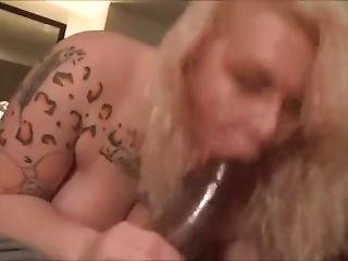 Big Titty Blonde Swallowing Bbc