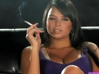 Sasha Cane Sexy Smoking