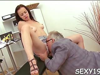 Old Teacher Is Ravishing Sweet Babes Chaste Pussy