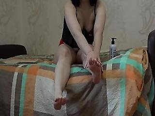 I Took Off My Red Panties And Started Masturbating