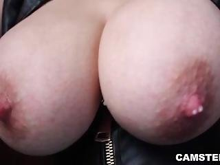 Squeezing Out Her Milk From Her Big Natural Tits