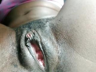 Babysitter Fingers Black Hairy Pussy And Ass During Naptime