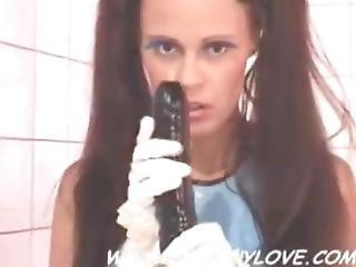 Queeny Love - Rubber Schoolgirl