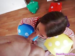 Real Amateur Teen Loves Drooling On Cock