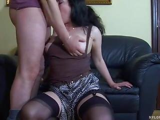 Gwendolen Lets Horny Bad Boy Adam Fuck Her Brains Out On The Couch