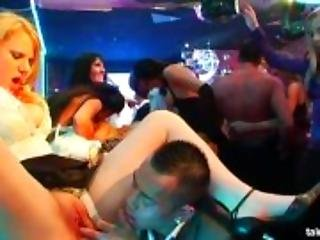 Sexy babes fucking at a bride sex party