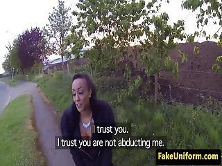 Faketit Uk Ebony Fucked Outdoors By Cop