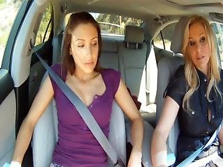 Celeste Star Fucks Julia Ann In The Backseat