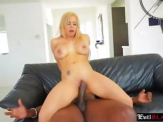 Reverse Cowgirl Blonde Busty Chick Ride Big Black Dong