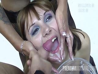 Premium Bukkake Michelle Swallows 71 Huge Mouthful Cum Shots